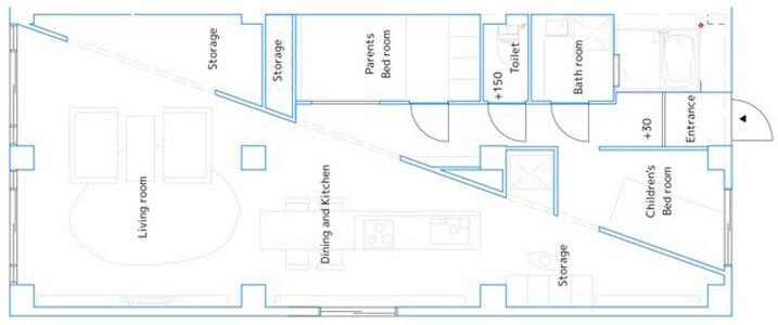 Kurosawa Kawaraten - Japanese Apartment - Apartment for TK - Japan - Floor Plan - Humble Homes