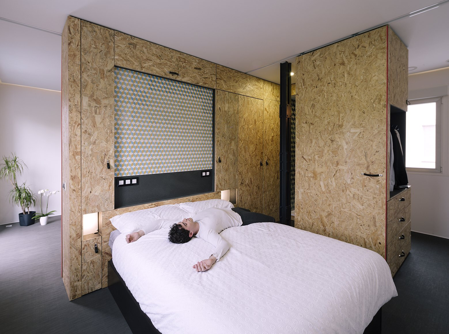 Small Apartment - The POP-UP House - TallerDE2 Arquitectos - Madrid - Bedroom & Bathroom - Humble Homes