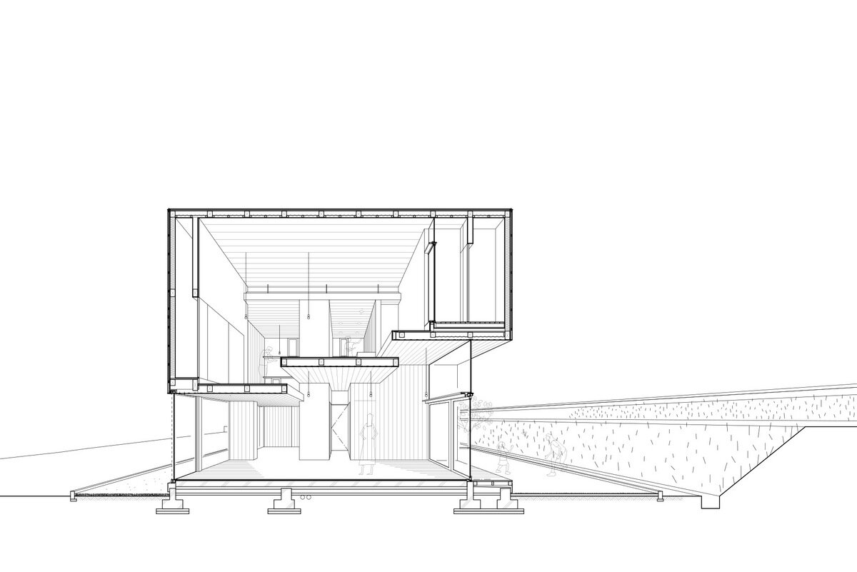 House Passage of Landscape - Japanese House - ihrmk - Toyota Japan - Cross Section - Humble Homes