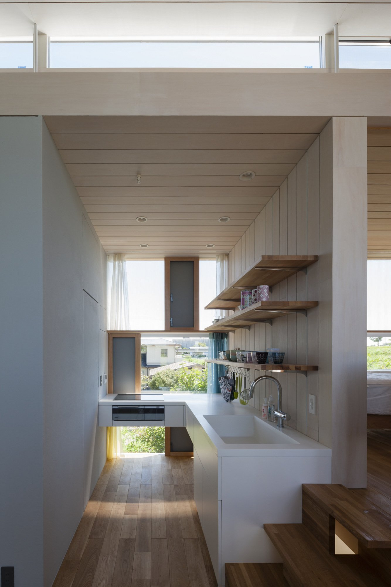 House Passage of Landscape - Japanese House - ihrmk - Toyota Japan - Kitchen - Humble Homes