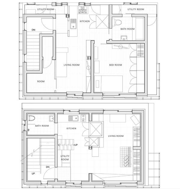 Small Apartments - Suo-Jae - The House to Uphold Myself - Studio GAON - South Korea - Seoul -Floor Plan - Humble Homes