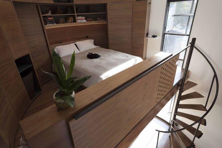 Tiny House - Coverted Grain Silo - Christoph Kaiser - Arizona - Bedroom - Humble Homes