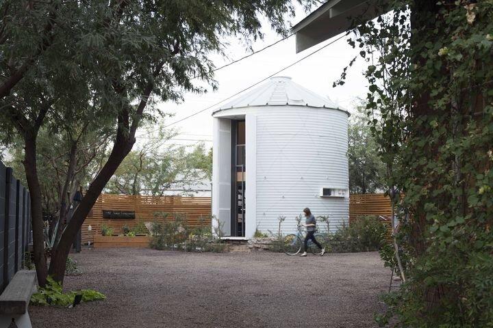 Tiny House - Coverted Grain Silo - Christoph Kaiser - Arizona - Exterior - Humble Homes