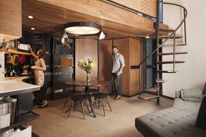 Tiny House - Coverted Grain Silo - Christoph Kaiser - Arizona - Kitchen and Living Area - Humble Homes