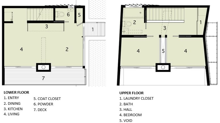 Beach Hampton - Small House - Bates Masi Architects - New York - Floor Plan - Humble Homes