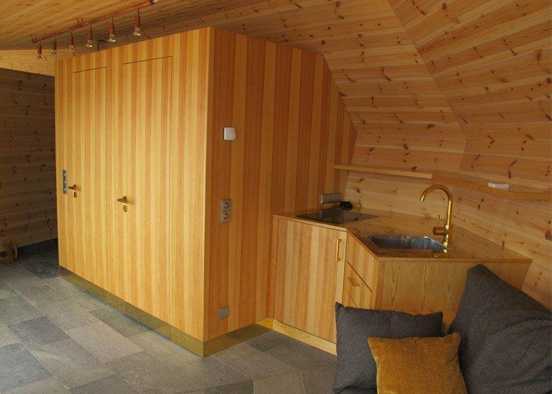 Brenner Bastu Sauna - Tiny Reatreat - Hans Murman - Sweden - Living Area - Humble Homes