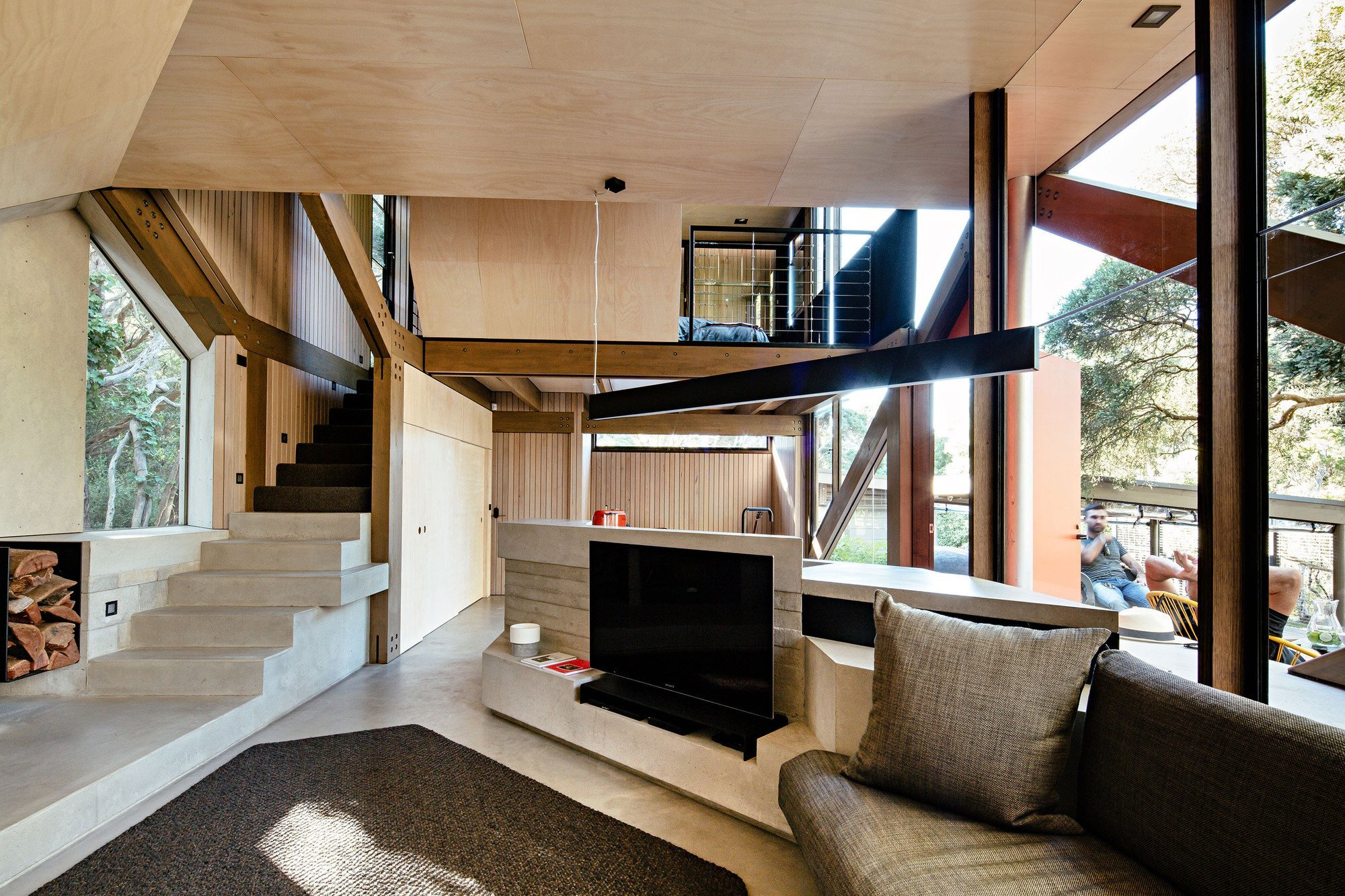 cabin 2 small house maddison architects australia living area humble homes - Contemporary Small Houses
