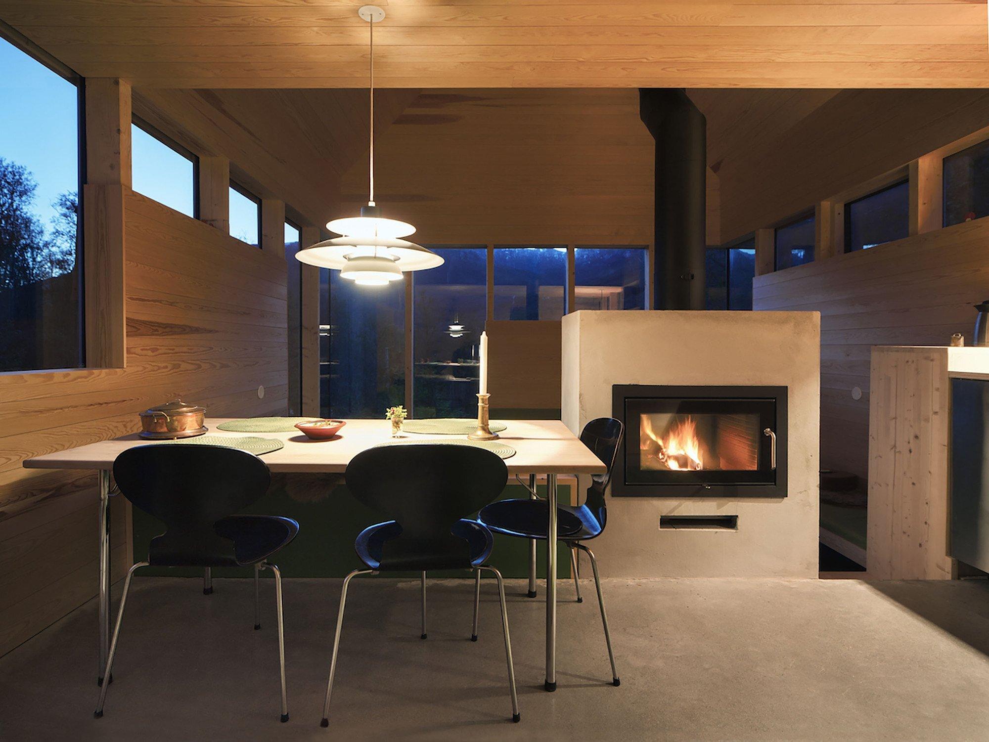 Cabin Laksvatn - Hamran Johansen Arkitekter - Norway - Dining Area - Humble Homes