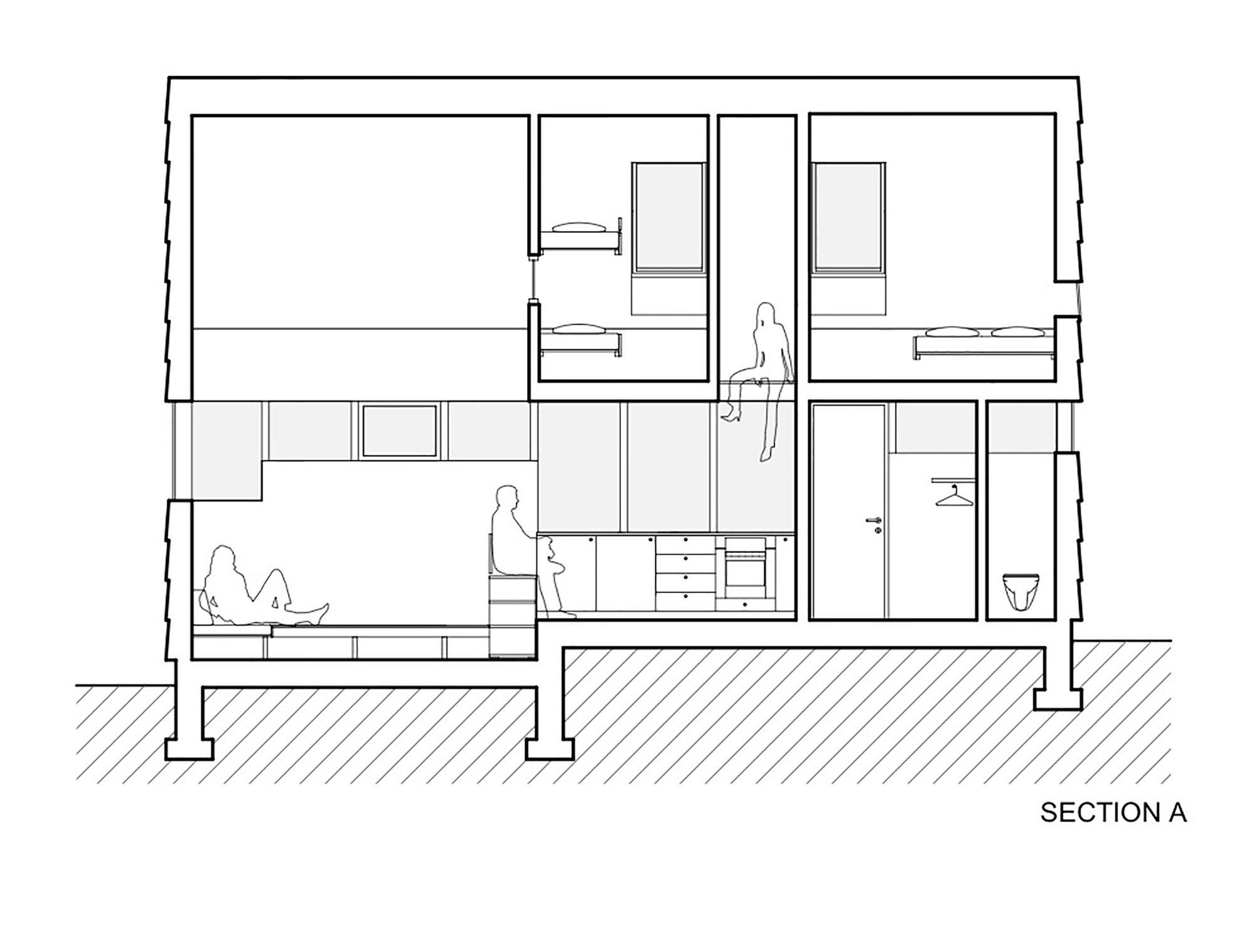 Cabin Laksvatn - Hamran Johansen Arkitekter - Norway - Floor Plans - Humble Homes
