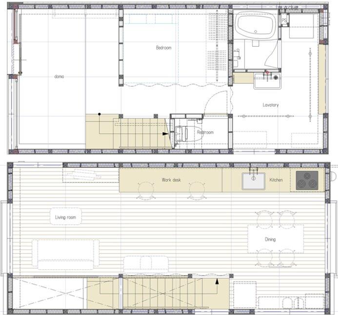 Re-Toyosaki - Small Japanese House - Coil Kazuteru Matumura Architects - Osaka Japan - Floor Plans - Humble Homes