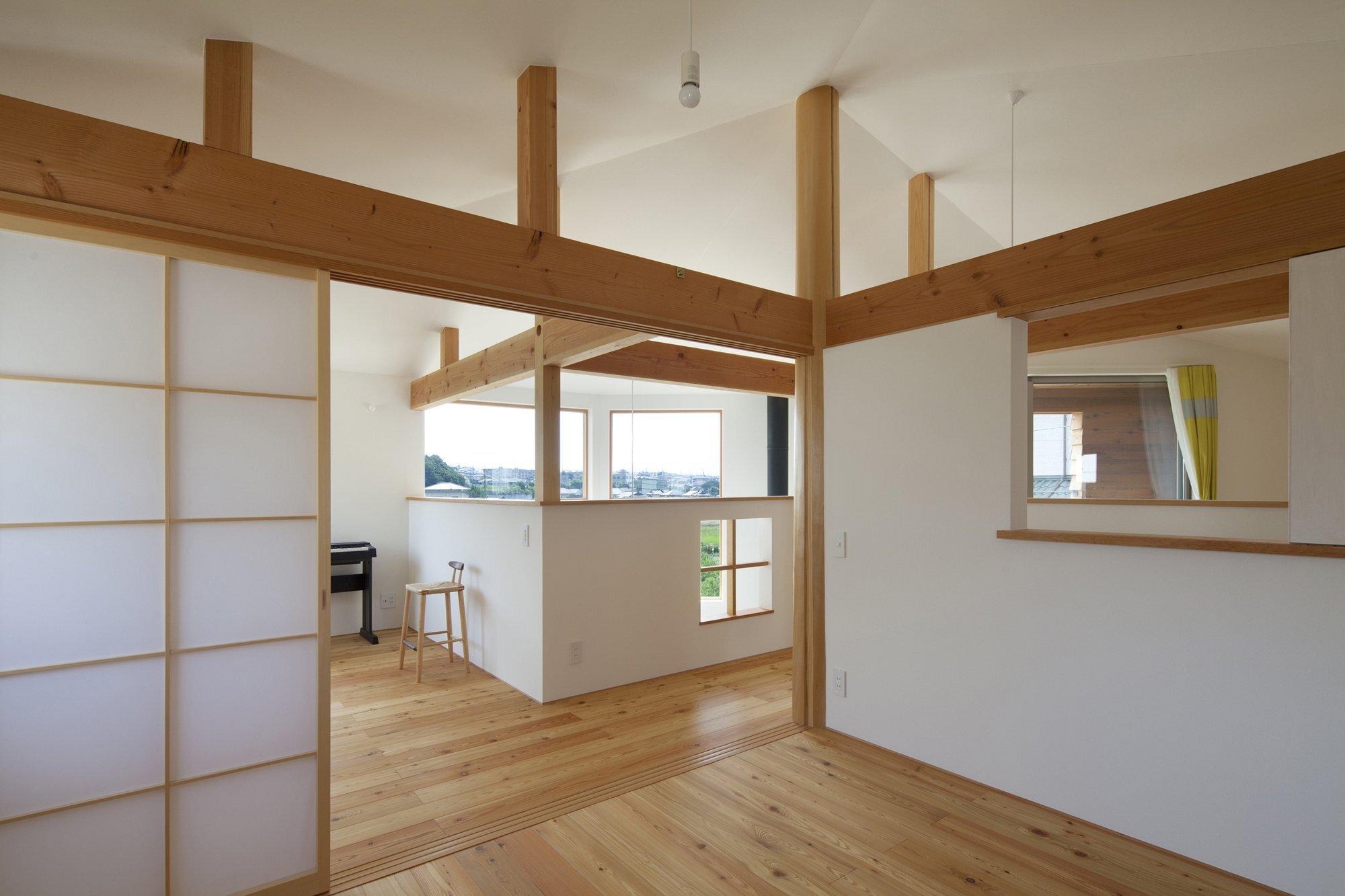 The Frontier House - Small Japanese House - Mamiya Shinichi Design Studio - Toyoake Japan - Bedroom - Humble Homes