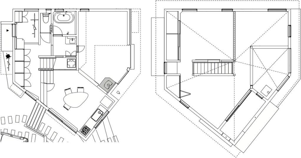 The Frontier House - Small Japanese House - Mamiya Shinichi Design Studio - Toyoake Japan - Floor Plans - Humble Homes
