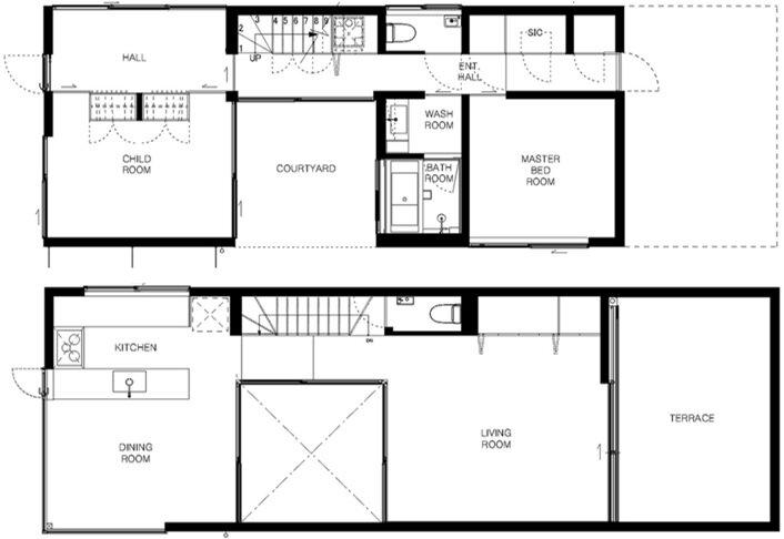 Wave House - Small House - APOLLO Architects & Associates - Kanagawa - Floor Plans - Humble Homes