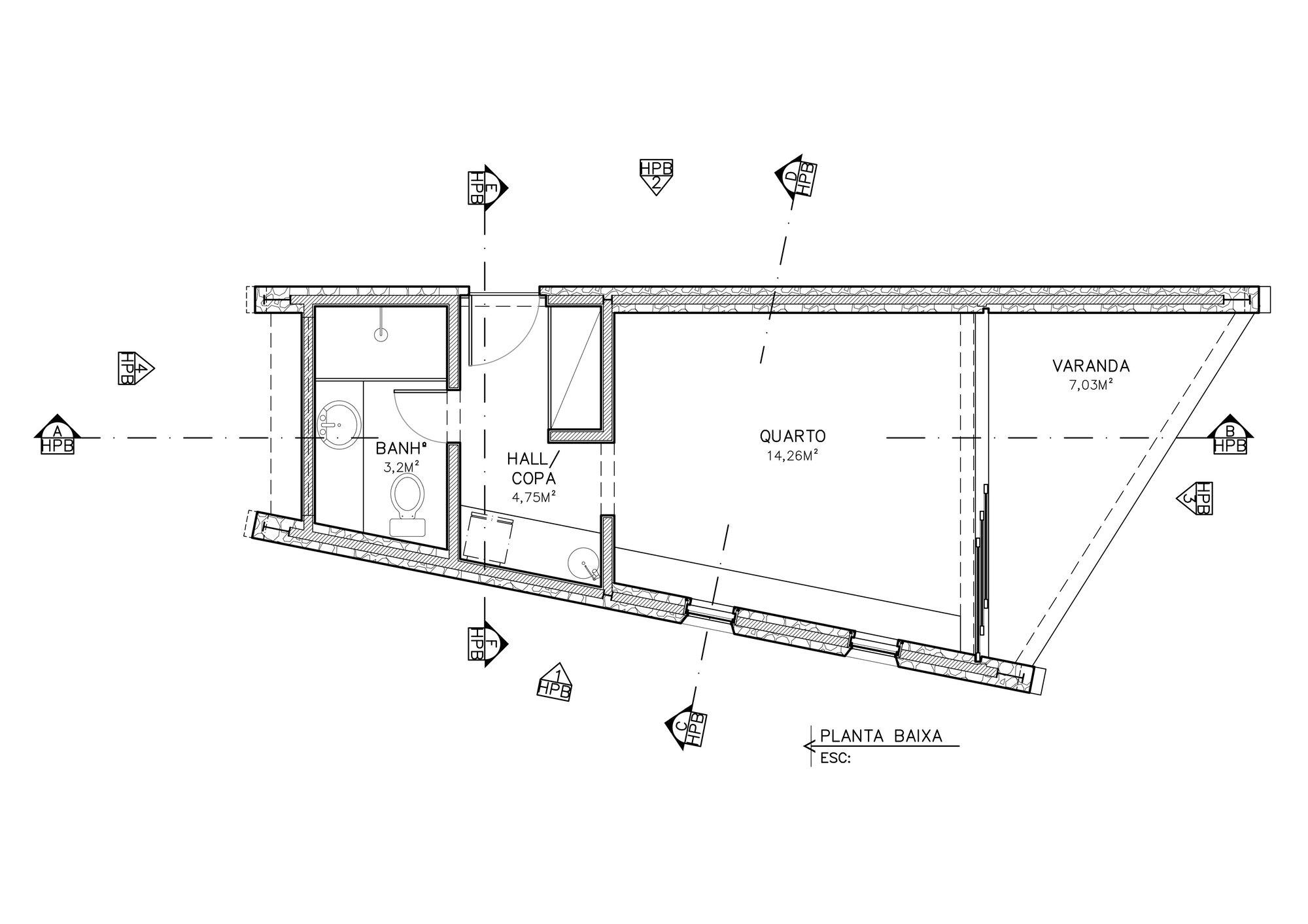 Writer's Retreat - Tiny Retreat - Architectare - Brazil - Floor Plan - Humble Homes