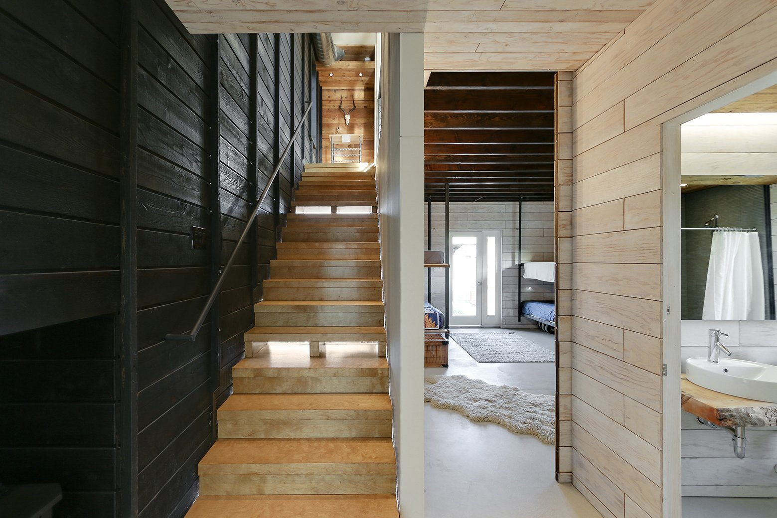 510 Cabin - Small House - Hunter Leggitt Studio - California - Staircase - Humble Homes