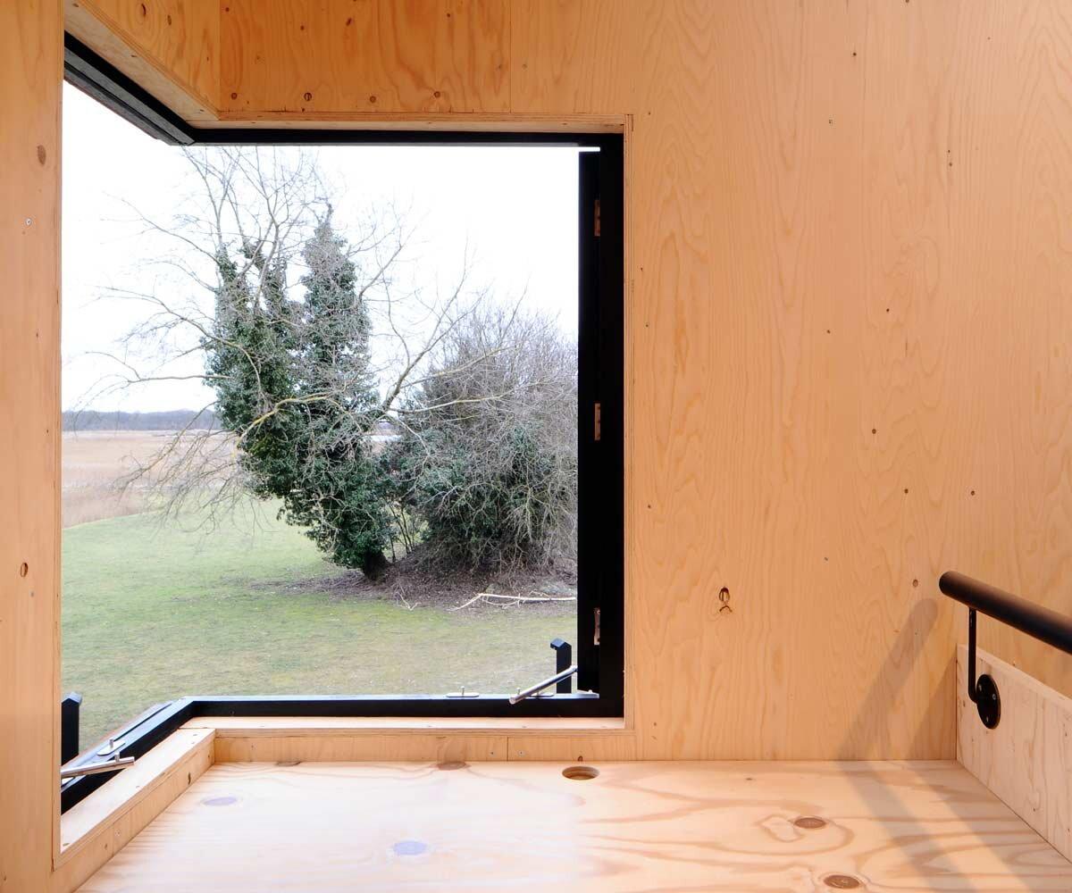 Dovecote Studio - Tiny Retreat - Haworth Tompkins - England - Corner Window - Humble Homes