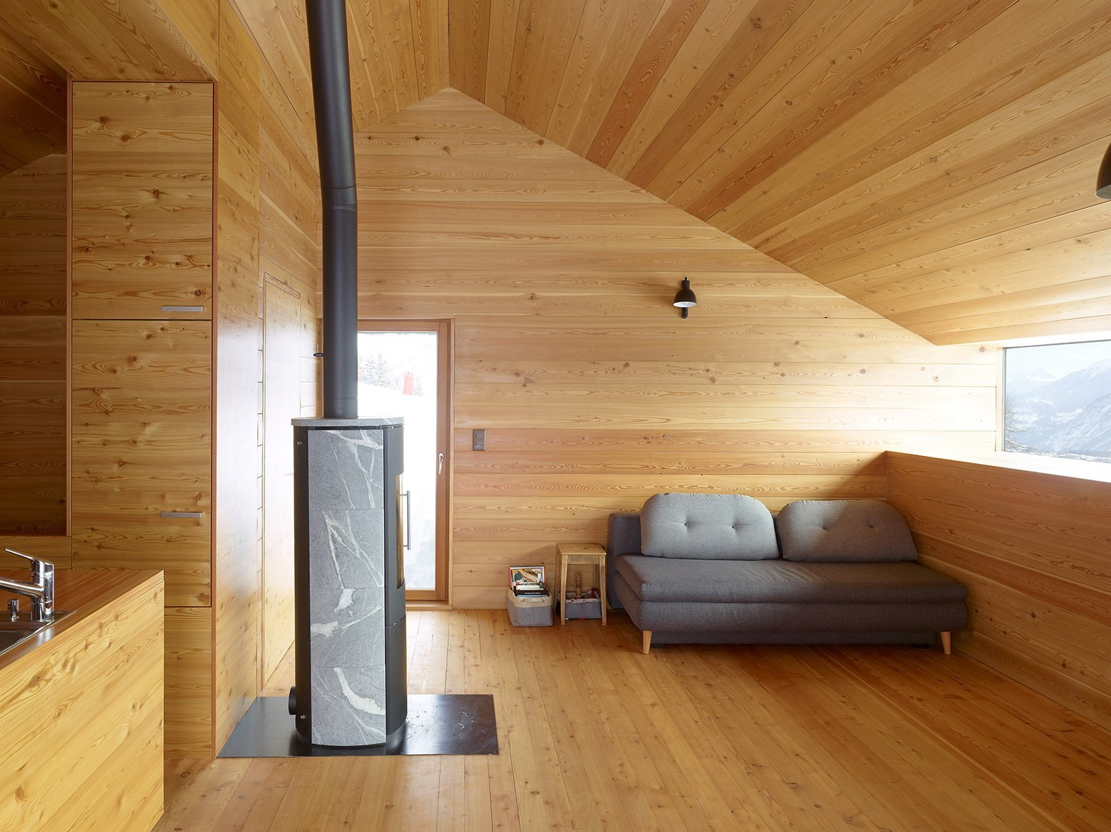 Gaudin House - Small Cabin - Savioz Fabrizzi Architectes - Switzerland - Living Area - Humble Homes