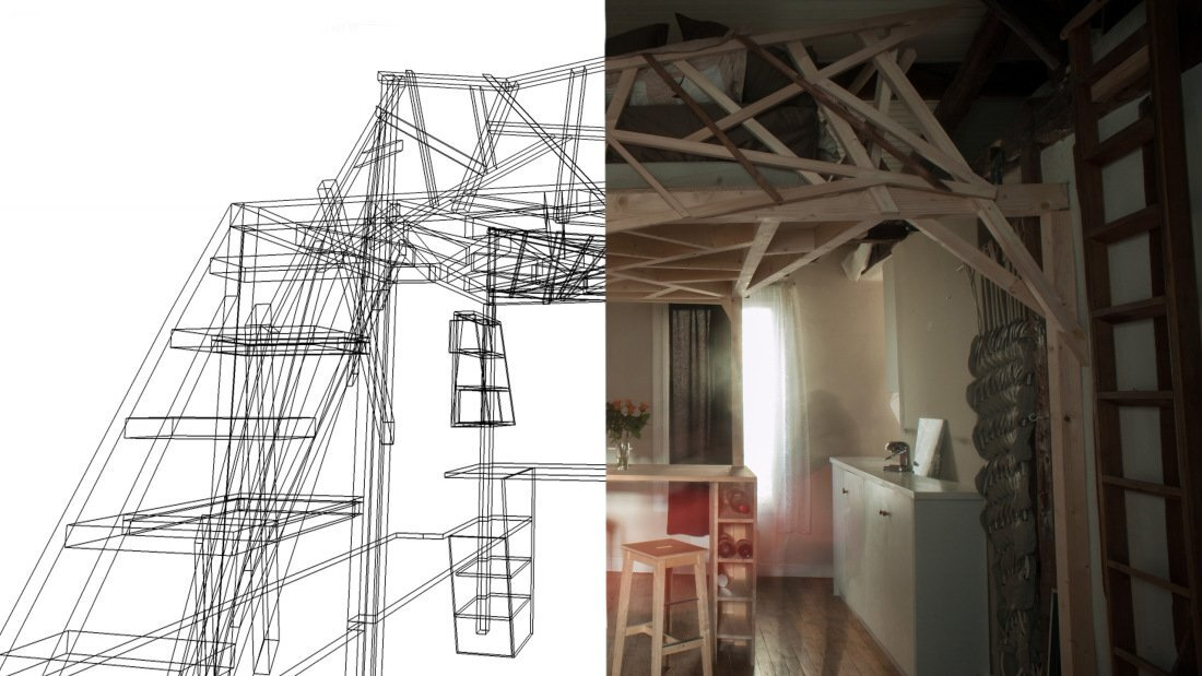 Paris Apartment Redesign - Fabbricabois - Timber Loft 4 - Humble Homes