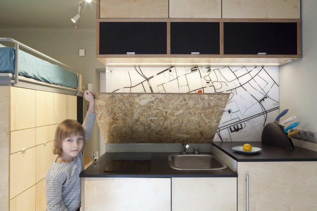 Small Apartment - Utopia Studio - Warsaw - Kitchen - Humble Homes