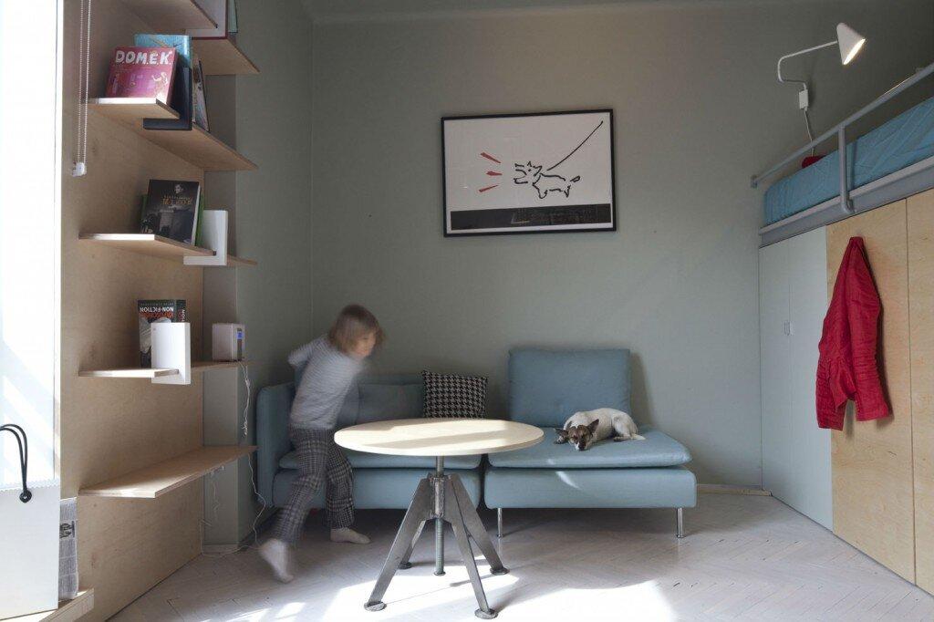 Small Apartment - Utopia Studio - Warsaw - Living Area - Humble Homes