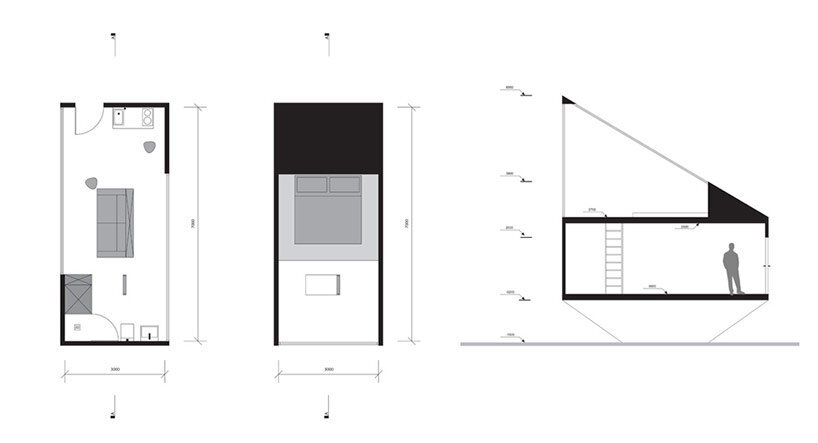Small Forest Cabin - Tomek Michalski - Poland - Floor Plan - Humble Homes