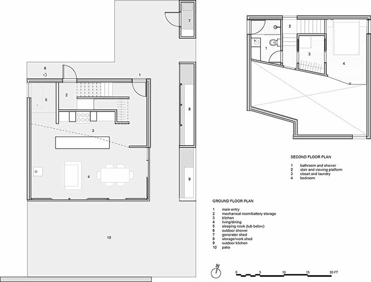 The Sky House - Small Cabin - Jesse Garlick - Vancouver - Floor Plan - Humble Homes