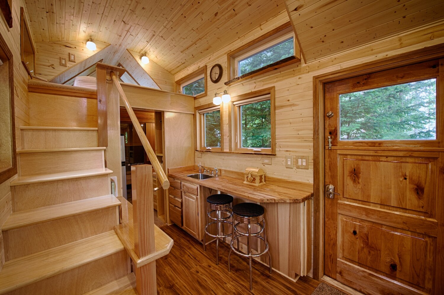 Tiny House - Kerry Alexander - Hope Island Cottages - Washington - Dining and Loft - Humble Homes