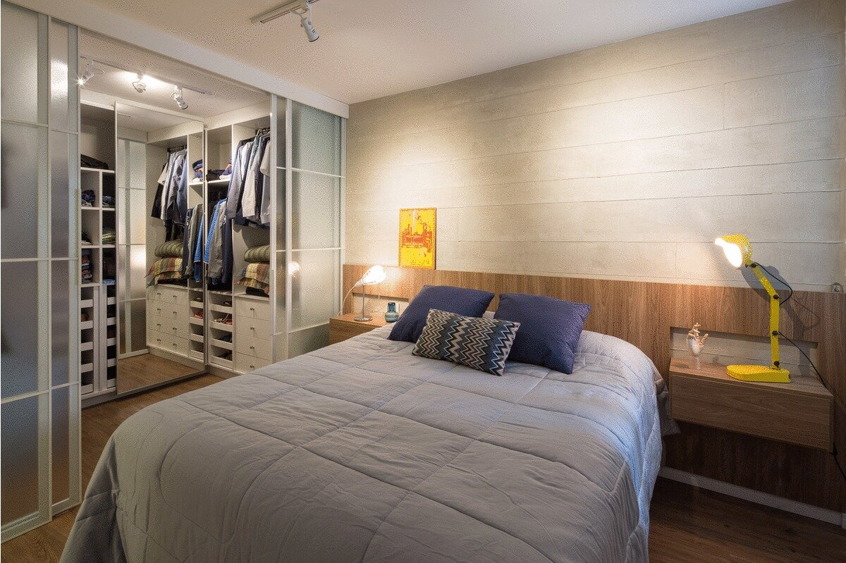 Trama Apartment - Small Apartment - Semerene Arquitetura Interior - Brazil - Bedroom - Humble Homes
