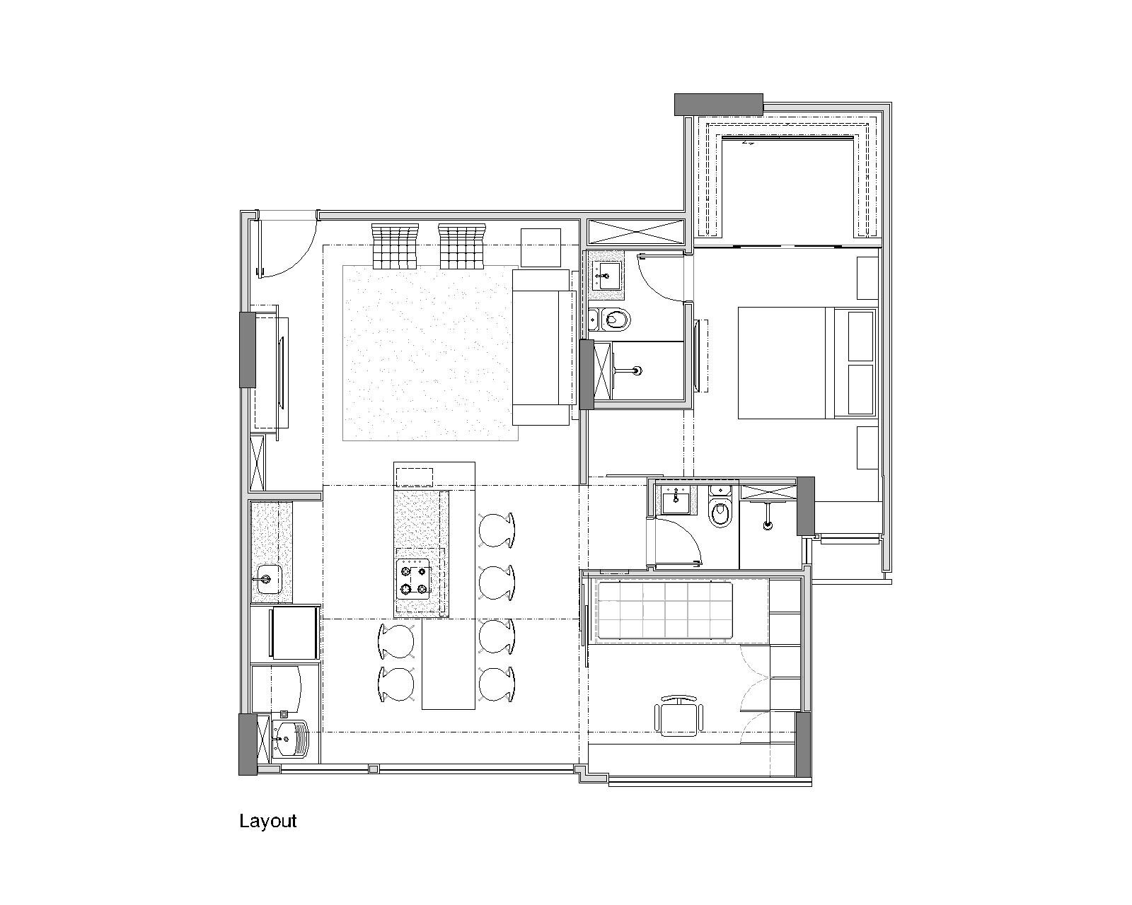 Trama Apartment - Small Apartment - Semerene Arquitetura Interior - Brazil - Floor Plan - Humble Homes