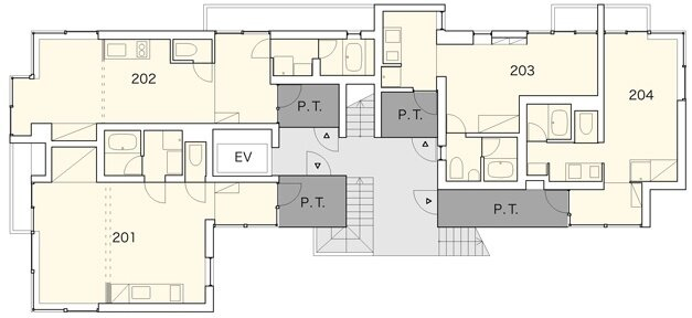 Apartment in Nishiazabu - SALHAUS - Small Apartments - Japan - Floor Plan - Humble Homes