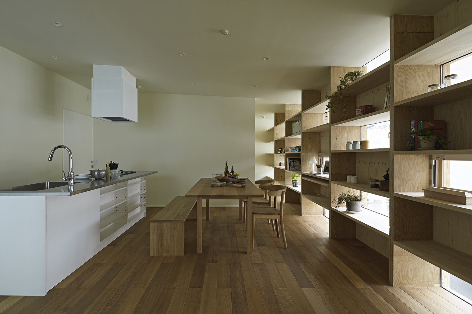 Checkered House - Takeshi Shikauchi Architect Office - Tokyo - Living Area - Humble Homes
