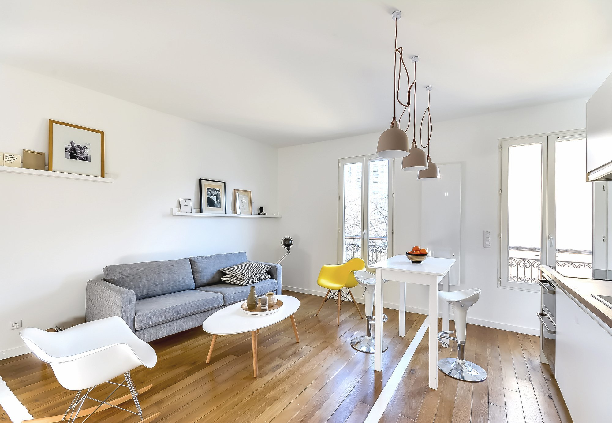 Flat in Paris - Small Apartment - Richard Guilbault - France - Living Area - Humble Homes
