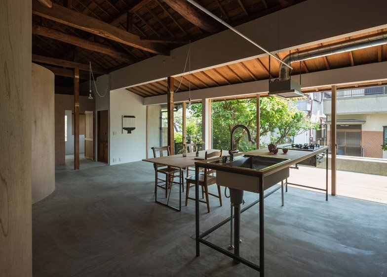 House in Kamisawa - Tato Architects - Japan - Kitchen and Living Room - Humble Homes
