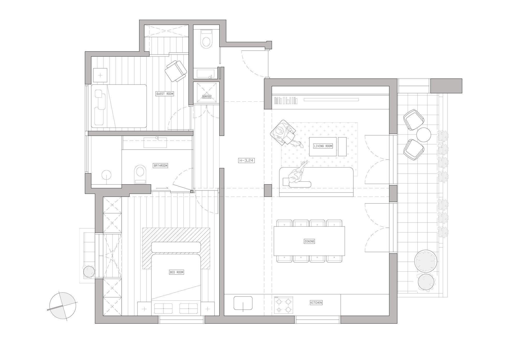 Raanan Stern\'s Bauhaus-Inspired 800 Square Foot Apartment
