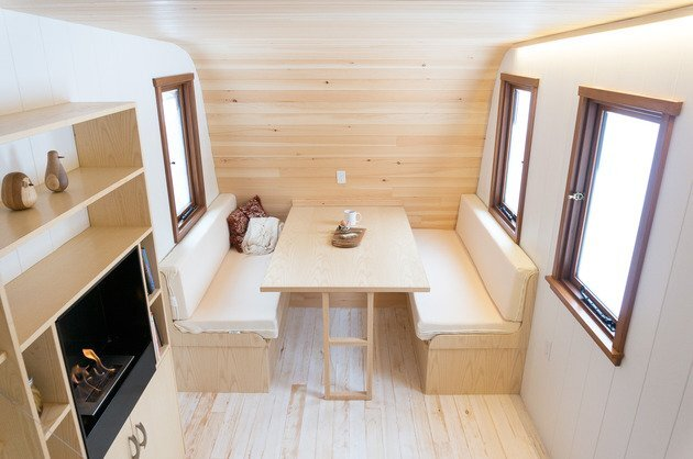 Collingwood Shepherd Hut - Tiny House - Gute - Canada - Dining Area - Humble Homes