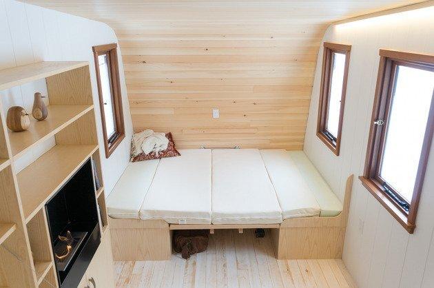 Collingwood Shepherd Hut - Tiny House - Gute - Canada - Sleeping Area - Humble Homes