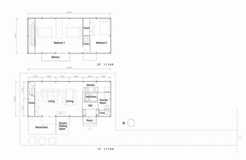 Prefab Steel House - Niji Architects - Tokyo - Floor Plans - Humble Homes