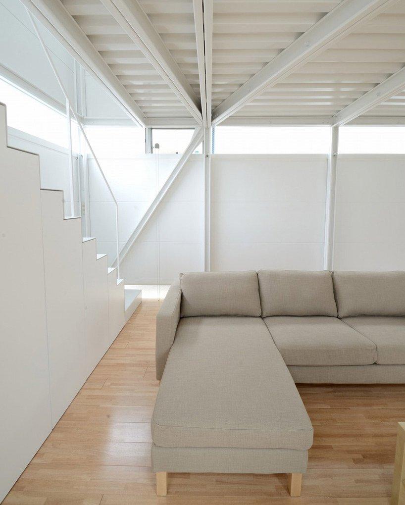 Prefab Steel House - Niji Architects - Tokyo - Staircase - Humble Homes