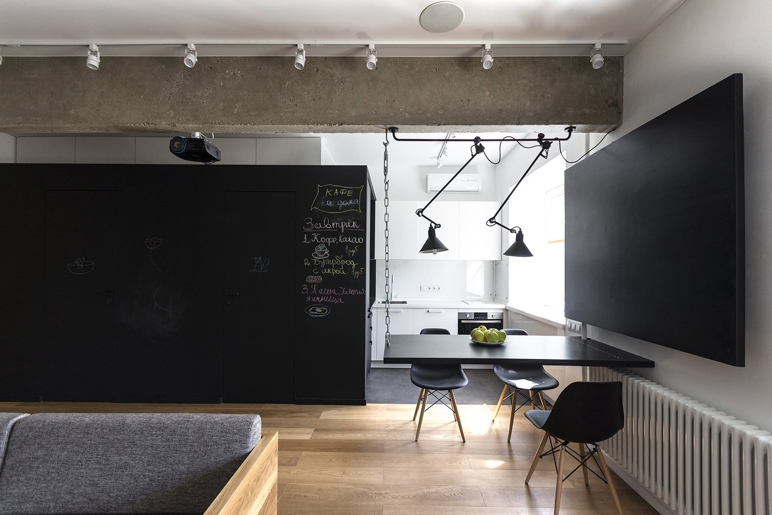 Small Apartment - Bagritsky - Ruetemple - Moscow - Dining Area and Kitchen - Humble Homes