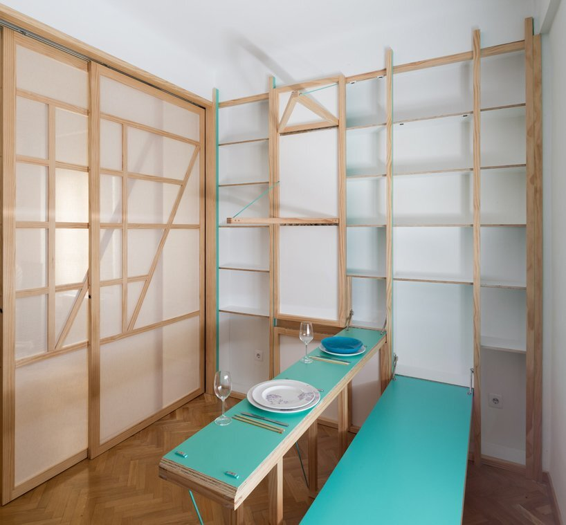 Susaloon - Tiny Apartment - Elii Architecture - Madrid - Dining - Humble Homes