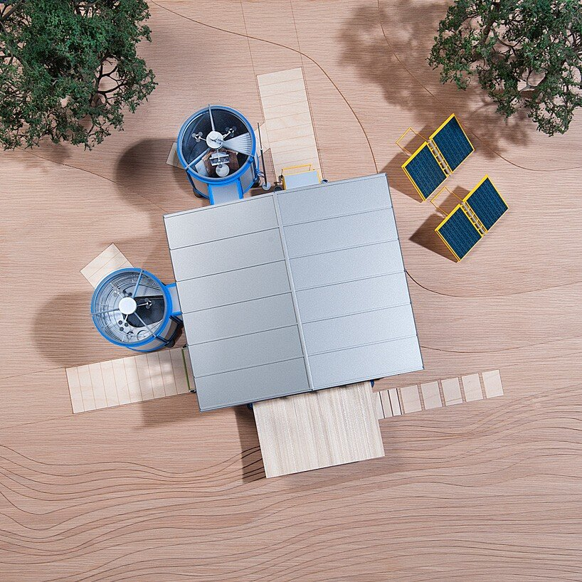 The Demountable House - Richard Rogers - Jean Prouvé - Model Exterior Roof - Humble Homes