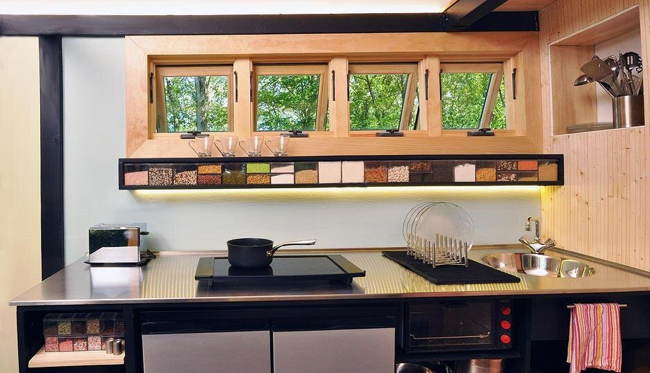 Tiny House - Toybox Tiny House - Frank Henderson and Paul Schultz - Illinois - Kitchen - Humble Homes