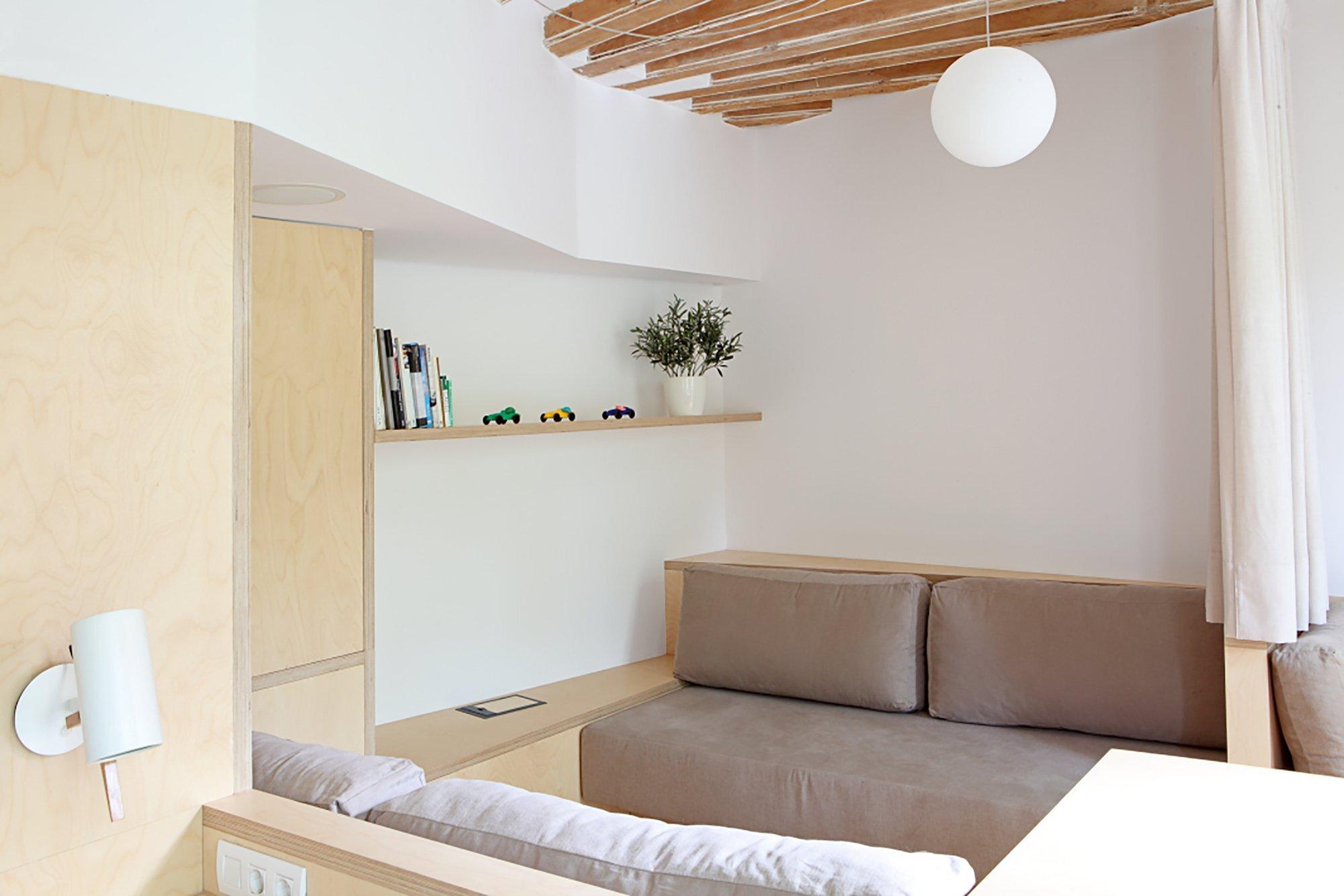 Apartment Pujades11 - Small Apartment - Miel Arquitectos + Studio P10 - Spain - Living Room - Humble Homes