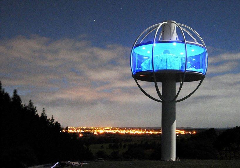 Skysphere - Jono Williams - New Zealand - At Night - Humble Homes