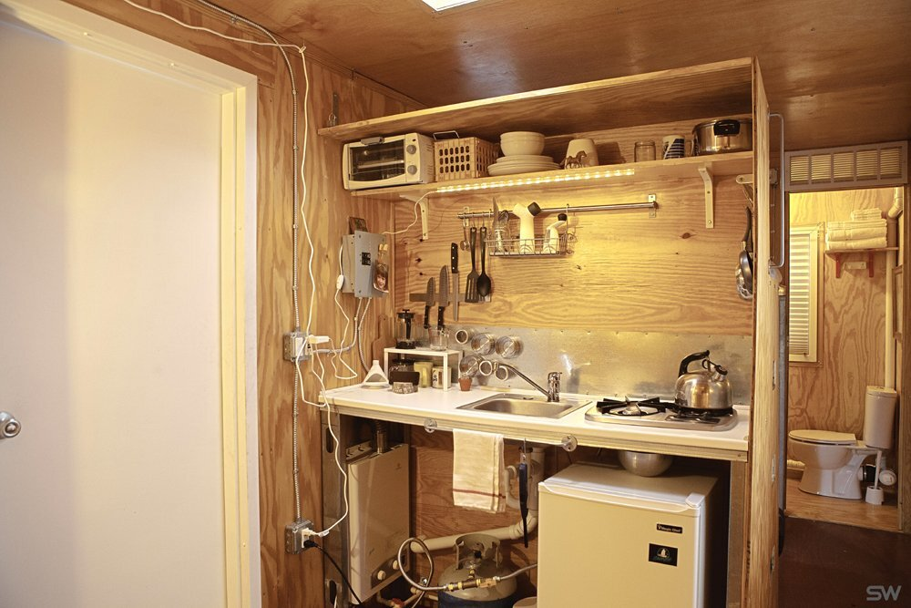South Worth Living Spaces - Container Home - Kitchen