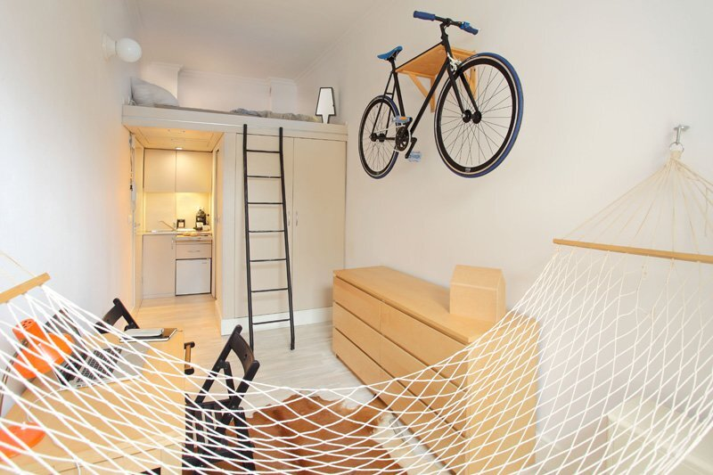 Tiny Apartment - Szymon Hanczar - Poland - Living Area Back - Humble Homes