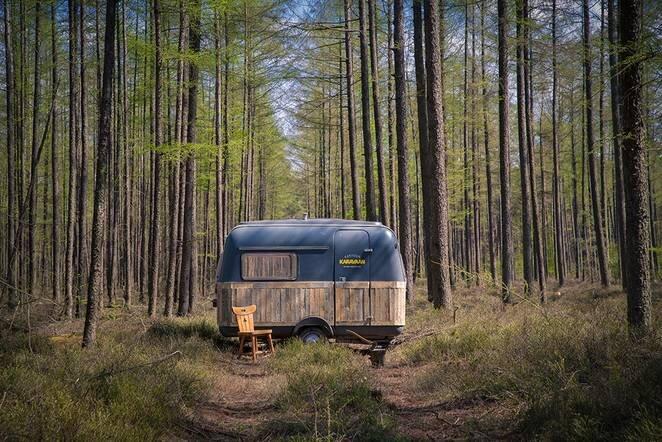 Tiny Caravan - KantoorKaravaan - The Netherlands - Exterior - Humble Homes