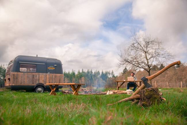 Tiny Caravan - KantoorKaravaan - The Netherlands - On Site - Humble Homes