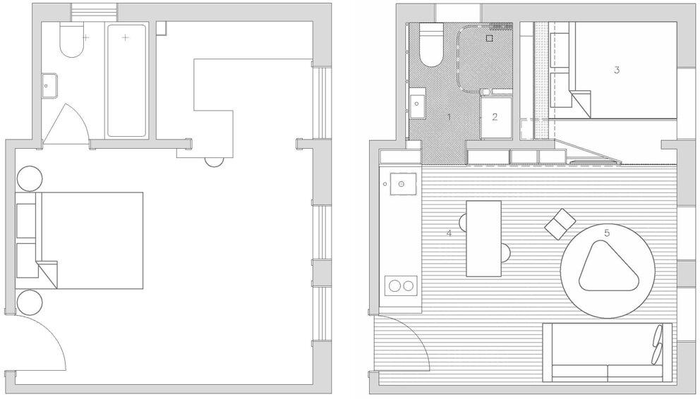 Darlinghurst Apartment - Brad Swartz Architect - Australia - Floor Plans - Humble Homes