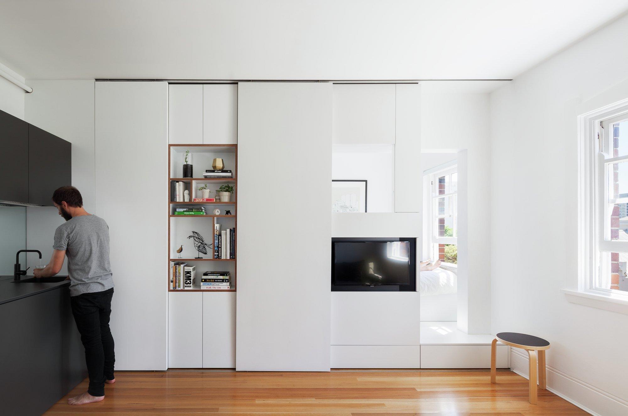 Darlinghurst Apartment - Tiny Apartment - Brad Swartz Architect - Australia - Living Area 1 - Humble Homes